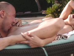 Chad Fuck Jillian Jansons Asshole On The Poolside