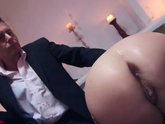 Hottest pornstar Anna Joy in horny lingerie, facial porn clip