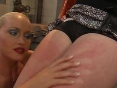 Horny blonde girl Kathia Nobili punishes her boyfriend's slutty chick