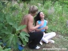 Long haired teen Katja gets ass fucked