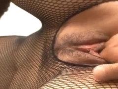 Ruhime Maiori fishnet porn show in hardcore