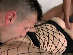 Horny pornstar Samantha Bentley in Fabulous Anal, Threesomes xxx movie