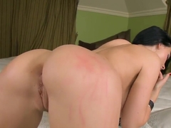 Sinful brunette Aletta Ocean is masturbating