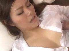 Exotic Japanese chick Miharu Izawa in Incredible Blowjob, Squirting JAV movie