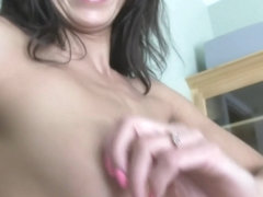 Naughty babe with perky tits gets fucked