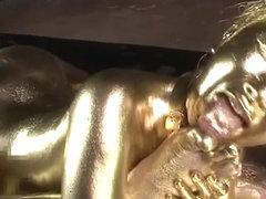 Gold Bodypaint Fucking