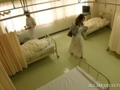 Hot Asian milf is in the hospital and horny for a cock