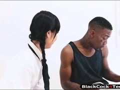 Pretty Asian Marica Hase fucked by black man in many poses