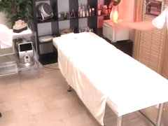 Voyeur massage video with asian cunt drilled very rough