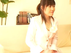 Job interview with japanese slut ends up with hard plugging