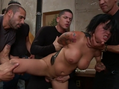 BUSTED! Eva Angelina Plays a Hooker Gangbanged by Crooked Cops! DP, DV, DA