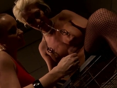 Katy Parker tortures hot blonde Pearl Diamond