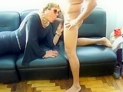 Mature CD fucked by two guys