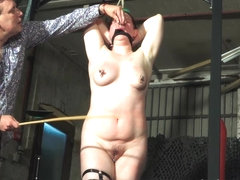 Tit whipping and hard caning of redhead amateur bdsm sl