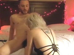 Best homemade cowgirl, blonde, living room sex movie