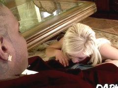 Blonde beauty Andi Anderson interracial ass punishment