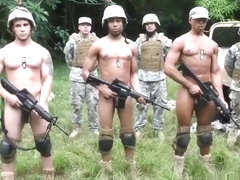 Gay military gangbang and sex army ass Jungle pound fest