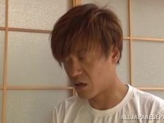 Hot Asian housewife Shiho Tachibana gives great head