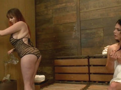 Brand New TS Talent Gina Hart fucks Mz Berlin and her Giant tits and Ass