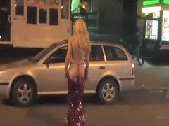 Drunk masked blonde sexy ass