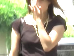 The hottest Asian ever gets skirt sharked in the park