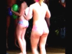 Massive girl ass shake jiggle humiliation boobs