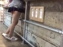 Chav girl wears the shortest skirt ever