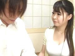 Horny Japanese chick Satomi Nagase in Exotic couple, handjobs JAV scene