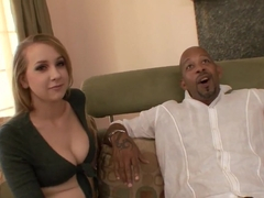 Fabulous pornstar Amy Valor in incredible interracial, facial porn clip