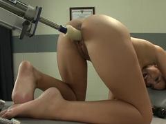 Hottest fetish porn movie with amazing pornstar Evi Fox from Fuckingmachines