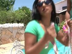 Latina doll Nayma gets good banging near the pool