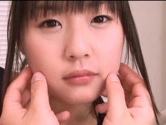 Nice Asian teen Tsubomi in swimsuit fingering pov action