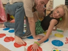 Twister and sex toy for a hot blonde scene 2