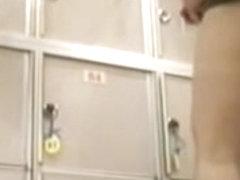 Asian hot cutie shaking her nude butt on hidden camera