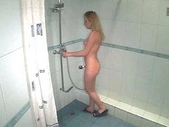 Cute candid in shower