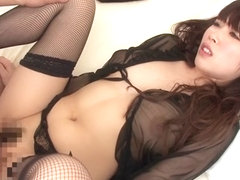 Exotic Japanese model Rico Yamaguchi in Horny fishnet, stockings JAV scene