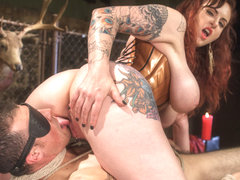 Jake Jammer & Mz Berlin in Mz. Berlin Humiliates, Fucks, And Punishes Slave With No Limits - Divin.