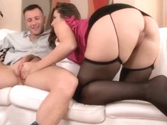 Big ass pornstar footjob and cumshot