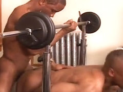 Watch part of the muscle building work