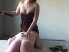 Submissive male dominated and tortured by mistress