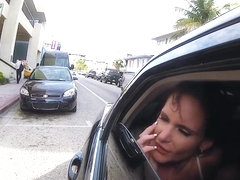 Diamond Kitty and Phoenix Marie fucked in a limo