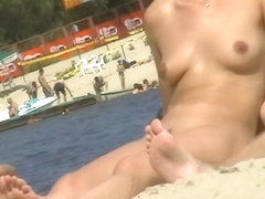 Great spy cam voyeur video of people on a nude beach