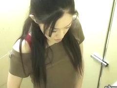 Sperm sharking event with fantastic Asian princess receiving unexpected facial