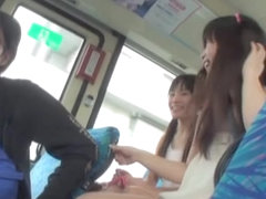Asian girls upskirts caught on the public transport