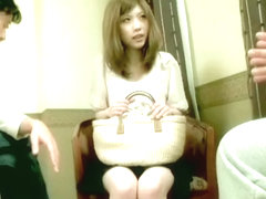 Blonde Jap rides for a creampie in Japanese hardcore movie