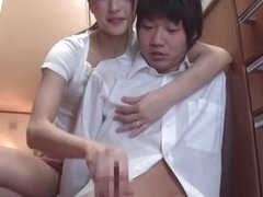 Horny Japanese whore Ichika Kanhata in Crazy handjobs, college JAV scene