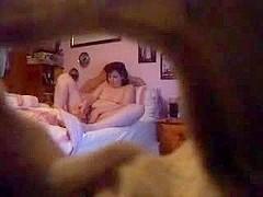 A mature lady caught masturbating