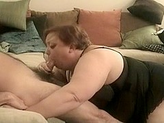 BBW deepthroat swallows various guys
