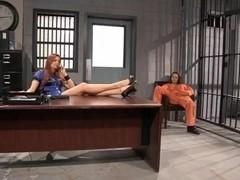Jayden Cole and Dani Daniels jailhouse fuck