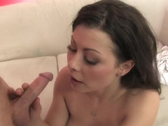Buxom Karmella Sutra relishes a deep pounding and gets a huge facial